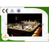 Quality 10 Seat Rectangle Electric / Induction Teppanyaki Grill Table With Ventilation / Precipitator wholesale