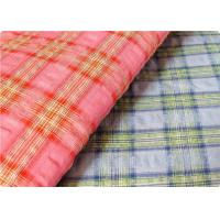 Quality Comfortable Yarn Dyed Cotton Seersucker Fabric Cloth For Umbrella wholesale