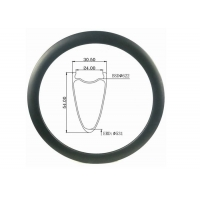 Buy cheap disc Tubeless All Road 31MM Width 54MM Double Wall 28H Carbon Bicycle Rim 700c from wholesalers