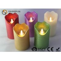 Quality Double Light Moving Flame Led Candles For Home Decoration 15.5 / 17.8cm wholesale