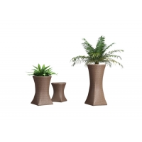 Quality Poly Rattan Tall Plant Pots Outdoor wholesale