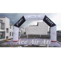 Quality customize 20 feet angle start/finish inflatable arch with free air blower for races and events wholesale