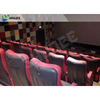 Quality Red / Black 4D Movie Theater , 4D Motion Seat Is Main Technology For Cinema Hall wholesale