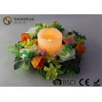 Quality Flameless Advent Pillar Candles , Led Remote Control Candles Dripping Finish wholesale