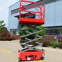 Quality Towable Scissor Lift Extended Platform Hydraulic Electronic Self Leveling wholesale