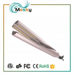 China 2 in 1 Gold Hair Straightener gold titanium flat iron hair curler on sale