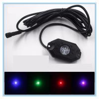 Quality 4 Pods RGB LED Rock Security Lights with Bluetooth Controller for Music Mode , Flashing wholesale