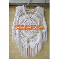 Quality Womens Crochet Poncho Shawl Fringe Girl Floral Sweater Poncho Wrap, ponchoes, crochet wholesale