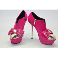 Quality bowtie lady boots pink wholesale