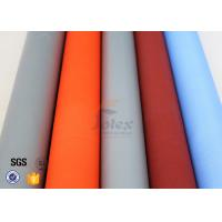 Quality PU Silicone Coated Glass Fabric 280G 590G Abrasion Resistant Fire Blanket wholesale