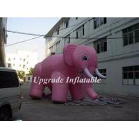 Quality giant advertising cold air balloon inflatable pink elephant with free air blower for event decoration wholesale
