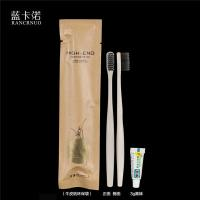 China RANCRNUO OOC-TB brown paper bag packing disposable hotel toothbrush set on sale