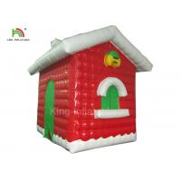 Quality Red Inflatable Christmas House For Festival Decoration One Year Warranty wholesale