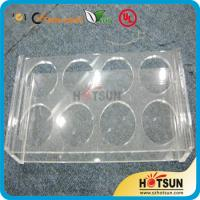 Cheap China factory wholesale black or clear colored acrylic shot glass serving holder for sale