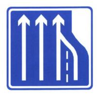 Quality Road Information Guide Signs Blue and White Color Sign Thick Aluminum Traffic Sign Board Cost wholesale