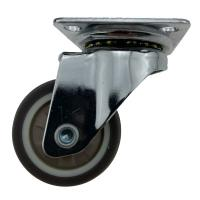 Quality 1 / 1.25 Inch Light Duty Casters Swivel Without Brake For Book Self / Storage Trolley wholesale