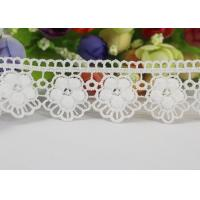 Quality Water Soluble Chemical Polyester lace ribbon trim For Gilr Dress Vintage Off White wholesale