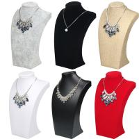 Quality 24*14.5cm Necklace Display Bust , Linen Ice Velvet Jewelry Necklace Holder wholesale