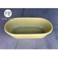 China 50 Gallon Roto Molding Round Trough Poly Oval Stock End Tank With Fitting For Ranching Used on sale