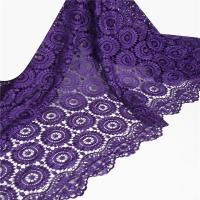 Quality F50214 flower design customizable dress making high quality embroidery lace fabric with stone wholesale