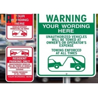 OEM Reflective Traffic Signs Visibility 100 - 800m For Highway Traffic for sale