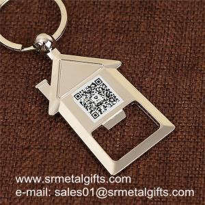 Quality House shaped metal bottle opener key holder, house shape beer opener key holders wholesale