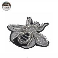 China Beads Handmade Sew On Embroidered Patches With Merrowed Border / Heat Cut Border on sale
