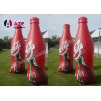 Cheap Red Color Realistic Shape Inflatable Promotional Products Bottle Food SGS for sale