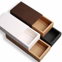 China Drawer Style Custom Printed Boxes Durable 350g Brown Kraft Paper Material on sale