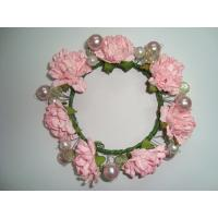 Quality Pink Rose Artificial Decorative Flowers Christmas Garlands and Wreaths for Wedding wholesale