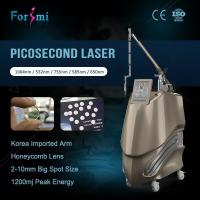 Buy cheap Hot sale professional 600ps 1064nm 532nm picosecond laser pigment lesions removal machine with Medical CE certification from wholesalers