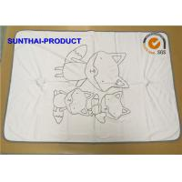 Quality Comfortable Fox Print Baby Blanket , Size Customized Beautiful Baby Blankets wholesale