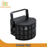 Quality Guangzhou Factory Stage Light RGBW 10W LED DJ Lighting Double Panel Black Butterfly Light wholesale