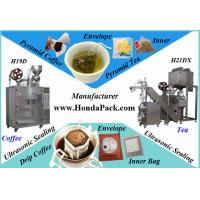 China Ultrasonic Pyramid Tea Bag Packing Machine with outer Envelope with full line for sale