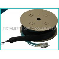 Quality Pulling Eye 24 Strand Multimode Fiber Optic Cable Pre Terminated LC Duplex Fanout wholesale