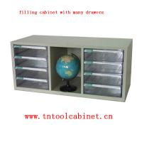 Quality plastic drawer file cabinet with many clear drawers wholesale