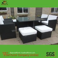 China Rattan Cube Set, Rattan Garden Furniture, Wicker Dining Table, Square Table on sale