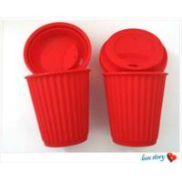 Cheap silicone coffee cup with lid ,promotion travel silicone coffee cups for sale