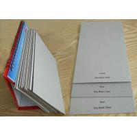 China 800gsm 1.5mm Grey Board Paper Sheet Single layer of Recycled Mixed Pulp on sale