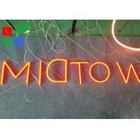 Quality Fashion LED Shop Display Outdor LED Neon Sign With Hided Stainless Steel Backing wholesale