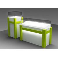 Quality Commercial Custom Glass Display Cases With Locking Bottom Cabinet wholesale