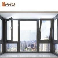 China Waterproof Tilt And Turn Aluminium Windows / Commercial Windows And Doors on sale