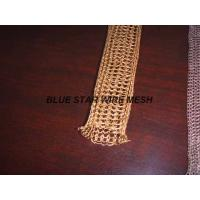 """Quality 2 """" Width Knitted Copper Wire Mesh Double / Multi - Filament Durable And Long Service Life wholesale"""