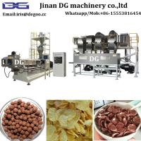 Quality China machines manufacturer for Honey coating cereal corn flakes snack food extrusion machinery/production line Jinan DG wholesale
