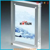 Quality High quality clear square double sided acrylic photo frame with magnets wholesale