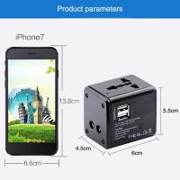 Cheap Dual USB Port Travel Power Adapter Fire Retardant ABS Housing Fast Charging for sale