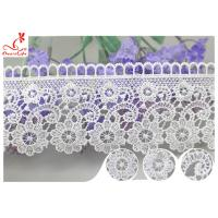 Quality Embroidered Flower Guipure Polyester Lace Trim For Dress DTM Azo Free Dyeing wholesale