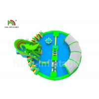 China Outdoor Crocodile Kids Inflatable Water Park Floating Aqua With Digital Printing on sale
