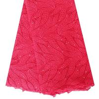 China 2015 Hot Products Quality Red Water Soluble Heavy Cord Lace Fabric 5 Yards For Dress on sale