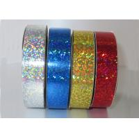 """Customised Holographic ribbon 1/2""""  x 20y , red white blue Ribbon Roll 90U - 200U Thickness"""